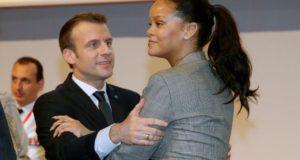 Rihanna et Macron au Sénégal